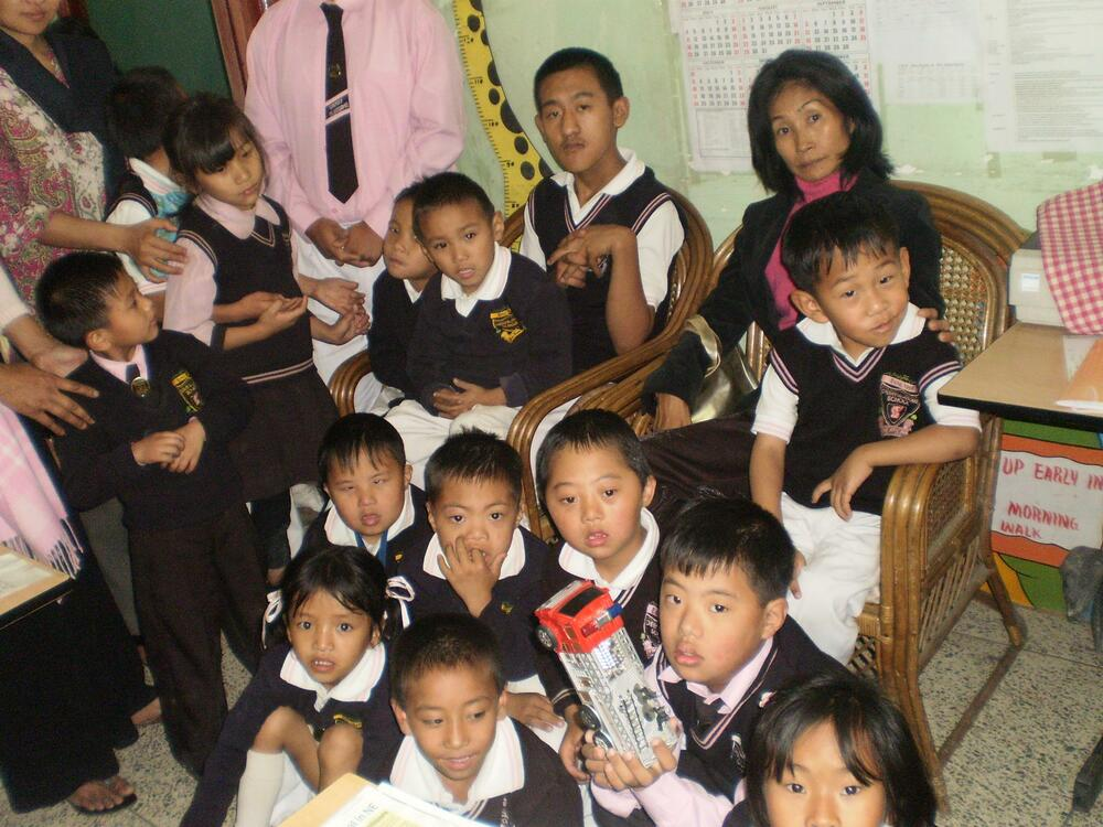 MS  ANITA EZUNG WITH THE CHILDREN