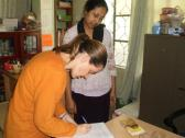 SOPHIE FROM ICRC GENEVA  VISIT THE SCHOOL
