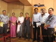 NIMH OFFICIALS MEETING WITH CHIEF SECRETARY LALTHARA AT THE  SECRETARIAT