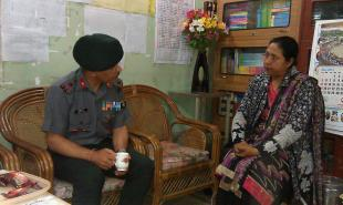 BRIG MONISH INTERACTS WITH MS PURNIMA KAYINA