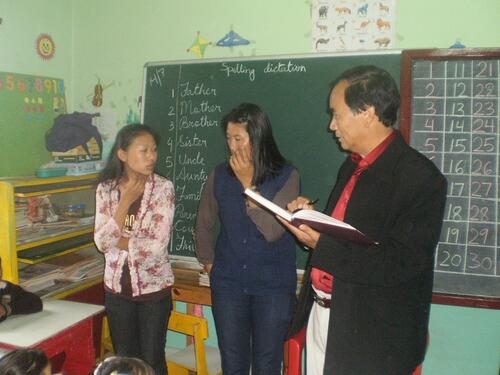 MR DEO INSPECTION IN THE SCHOOL