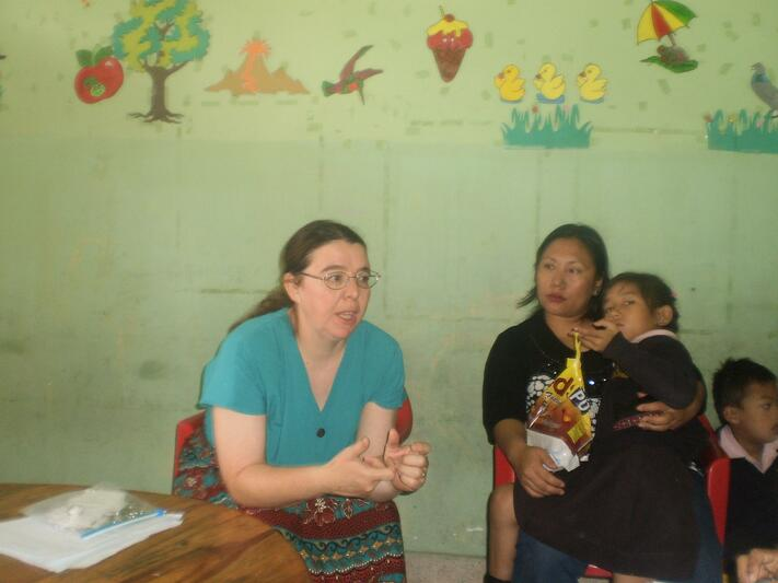 MILANDA PARRY FROM USA VISIT TO THE SCHOOL
